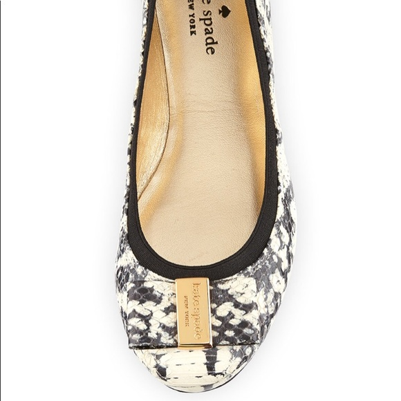 8a92908825b2 kate spade Shoes - Kate Spade Tock snake print ballet flat